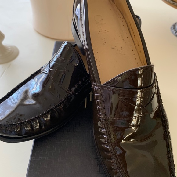 Cole Haan Shoes - Cole Haan Brown Patten Penny Loafer